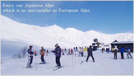 Enjoy our Japanese Alps. Which is as spectacular as European Alps.